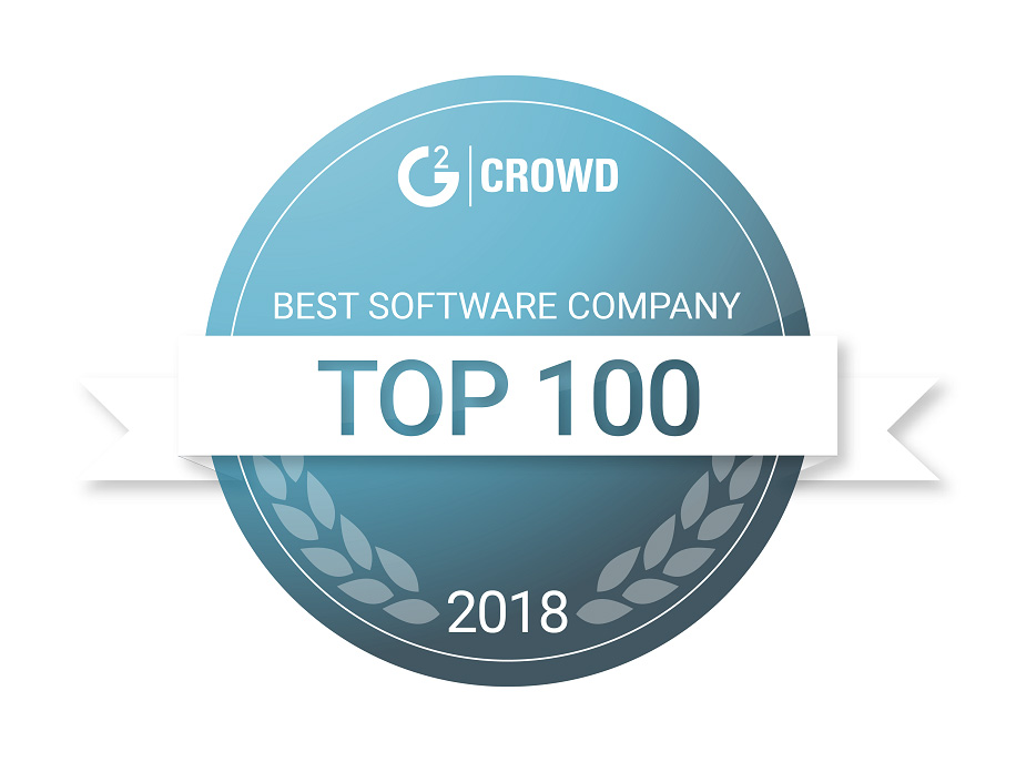 G2Crowd 2018 Best Software Company